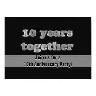 10th Anniversary Party | 10 Years Together Card