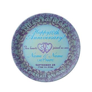 10th Anniversary Porcelain Plates