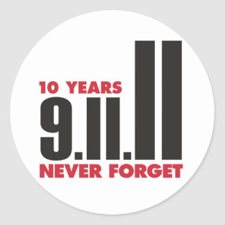 10th Anniversary September 11th Sticker