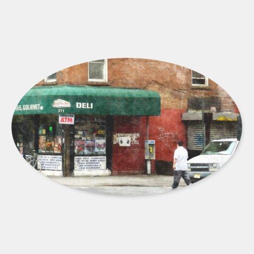 10th Ave. Deli in Manhattan Oval Stickers