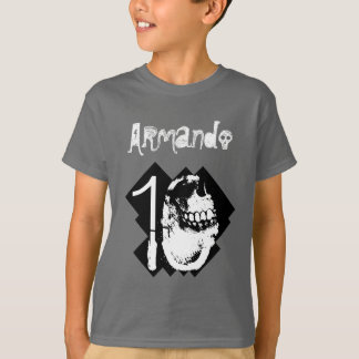10th Birthday BOY Goth Skull Number and Text V07 T-Shirt