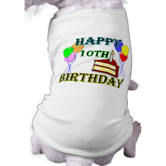 10th Birthday Cake Birthday Design Shirt