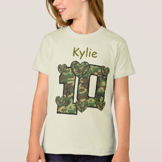 10th Birthday CAMO Custom Name V11 T-Shirt