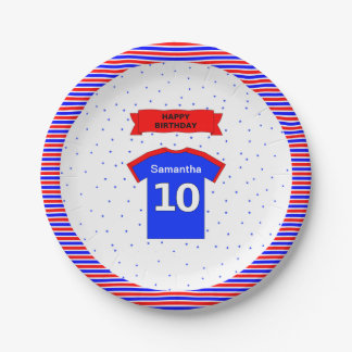 10th birthday girls boys custom name party 7 inch paper plate