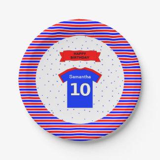 10th birthday girls boys custom name party paper plate