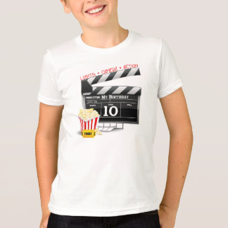 10th Birthday Hollywood Movie Party T-Shirt