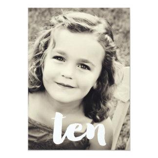 10th Birthday Number Ten Photo Overlay Invitation