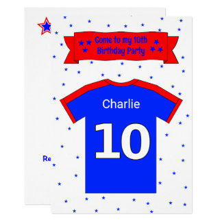 10th birthday personalized party invitation