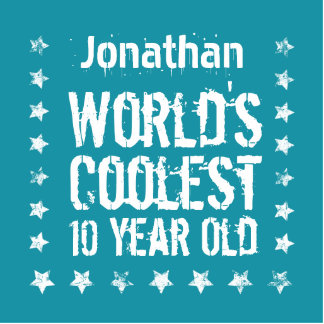 10th Birthday World's Coolest 10 Year Old Teal E90 Photo Sculpture Ornament