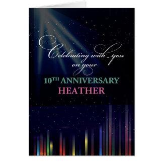10th Employee Anniversary Sky, Customizable Black Card