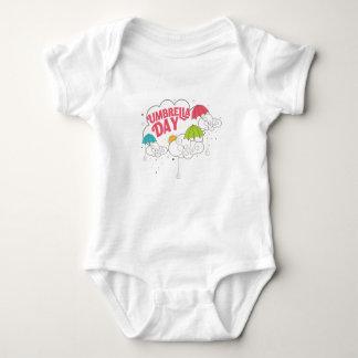 10th February - Umbrella Day - Appreciation Day Baby Bodysuit