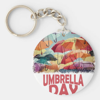 10th February - Umbrella Day - Appreciation Day Basic Round Button Keychain