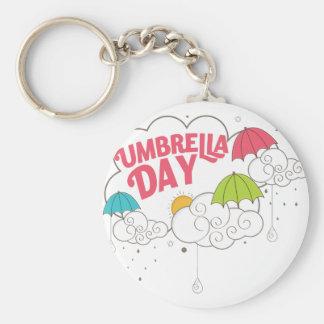 10th February - Umbrella Day - Appreciation Day Basic Round Button Keychain
