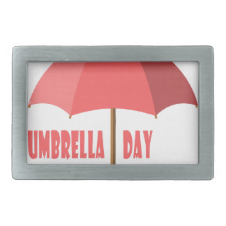 10th February - Umbrella Day - Appreciation Day Belt Buckle