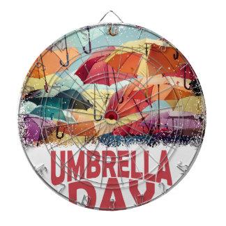 10th February - Umbrella Day - Appreciation Day Dartboard