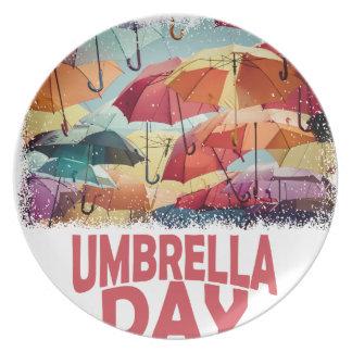 10th February - Umbrella Day - Appreciation Day Dinner Plate