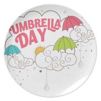 10th February - Umbrella Day - Appreciation Day Party Plate