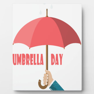 10th February - Umbrella Day - Appreciation Day Plaque