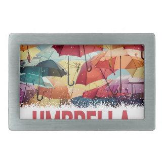 10th February - Umbrella Day - Appreciation Day Rectangular Belt Buckle
