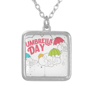 10th February - Umbrella Day - Appreciation Day Silver Plated Necklace