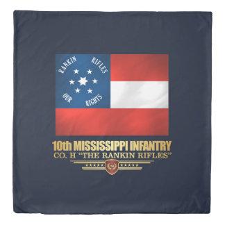 10th Mississippi Infantry Duvet Cover
