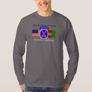 10TH MOUNTAIN AFGHANISTAN WAR L/S T-SHIRT