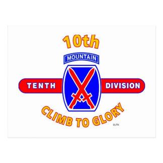 "10TH MOUNTAIN DIVISION ""CLIMB TO GLORY"" POSTCARD"