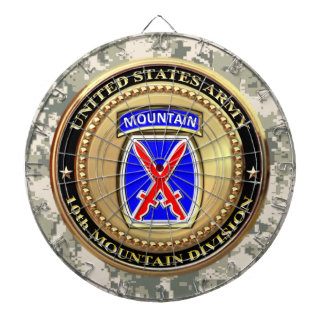 10th Mountain Division Dartboard