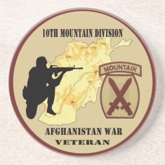 """10th Mountain Division Veteran"" Military Coaster"