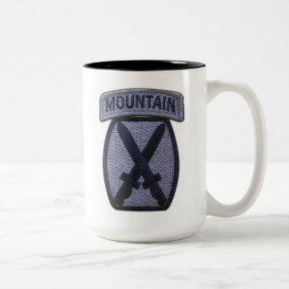 10th mtn mountain division fort drum veterans vets Two-Tone coffee mug