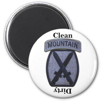 10th MTN mountain division patch veterans vets Magnet