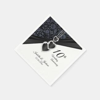 10th Onyx Wedding Anniversary Disposable Napkin