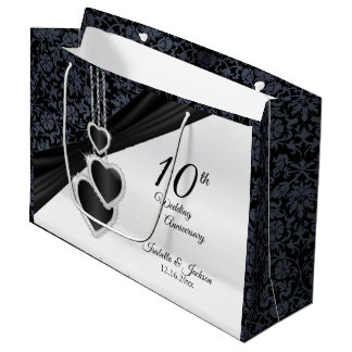 10th Onyx Wedding Anniversary - Large Large Gift Bag