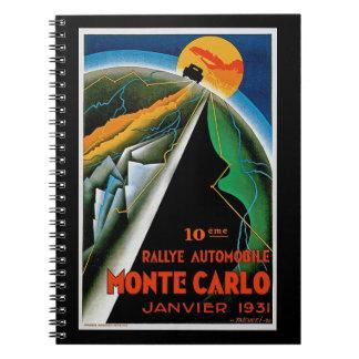 10th Rallye Automobile de Monte Carlo Spiral Notebooks