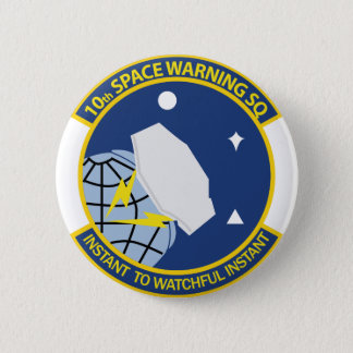 10th Space Warning Squadron 2 Inch Round Button