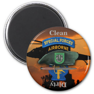 10th Special Forces Group Green Berets SFG SF Vets 2 Inch Round Magnet