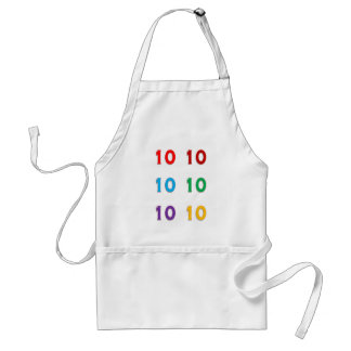 10th tenth Xth Birthday Anniversary Years GIFTS Standard Apron