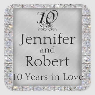 10th Tin and Diamond Anniversary Envelope Seal