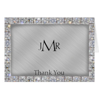 10th Tin and Diamond Anniversary Thank You Card
