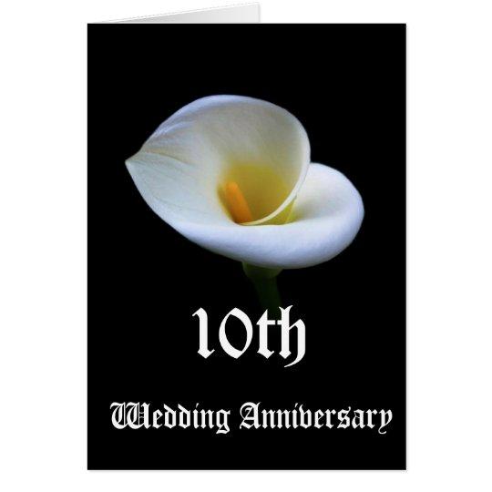 10th wedding anniversary card