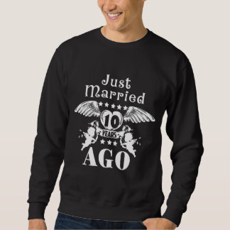 10th Wedding Anniversary Costume Sweatshirt