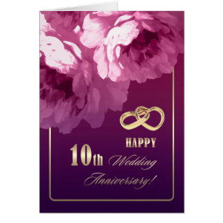 10th Wedding Anniversary Greeting Cards