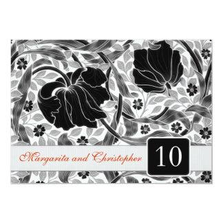 10th wedding anniversary invitations damask