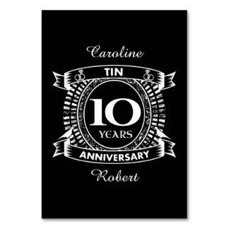 10TH wedding anniversary tin Card