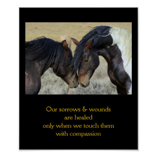 10x12 Inpirational Quote with Horses Posters