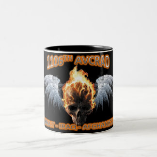 1106th AVCRAD Flaming Skull & Wings Mug