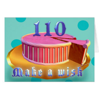 110 Birthday Greeting Cards Pink Cake stripes