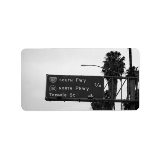 110 Freeway Sign Label