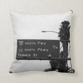 110 Freeway Sign Throw Pillows