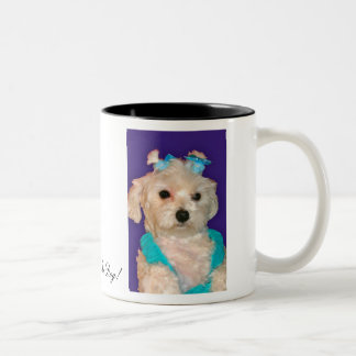 111937, I Love My Dog! Two-Tone Coffee Mug